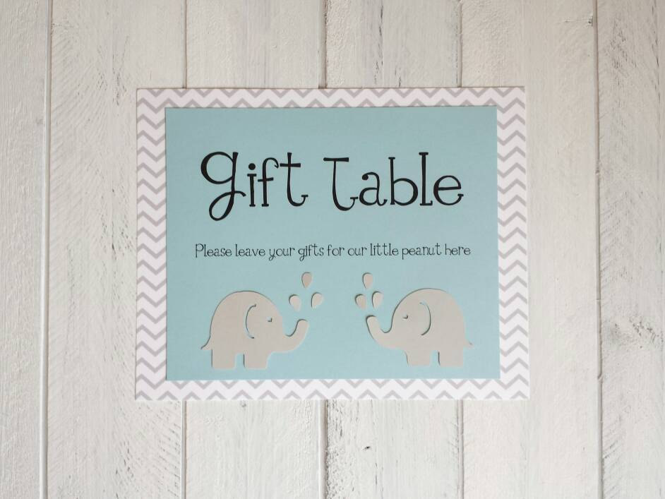 Bridal shower gift table clipart.