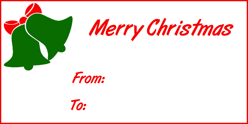 Christmas Gift Tag Clipart Free.