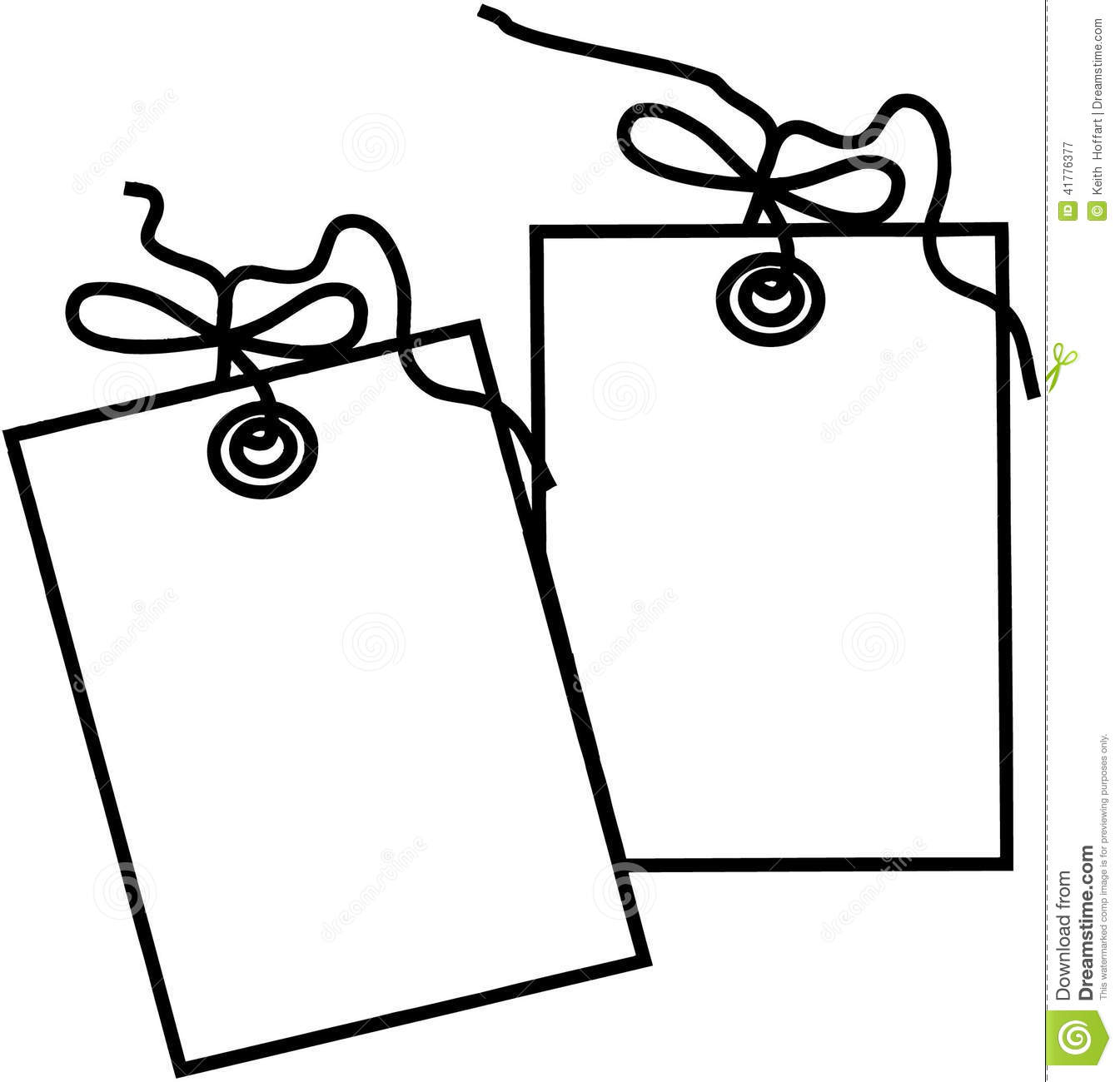 Gift tag clipart.