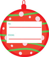 Christmas gift tags clipart.
