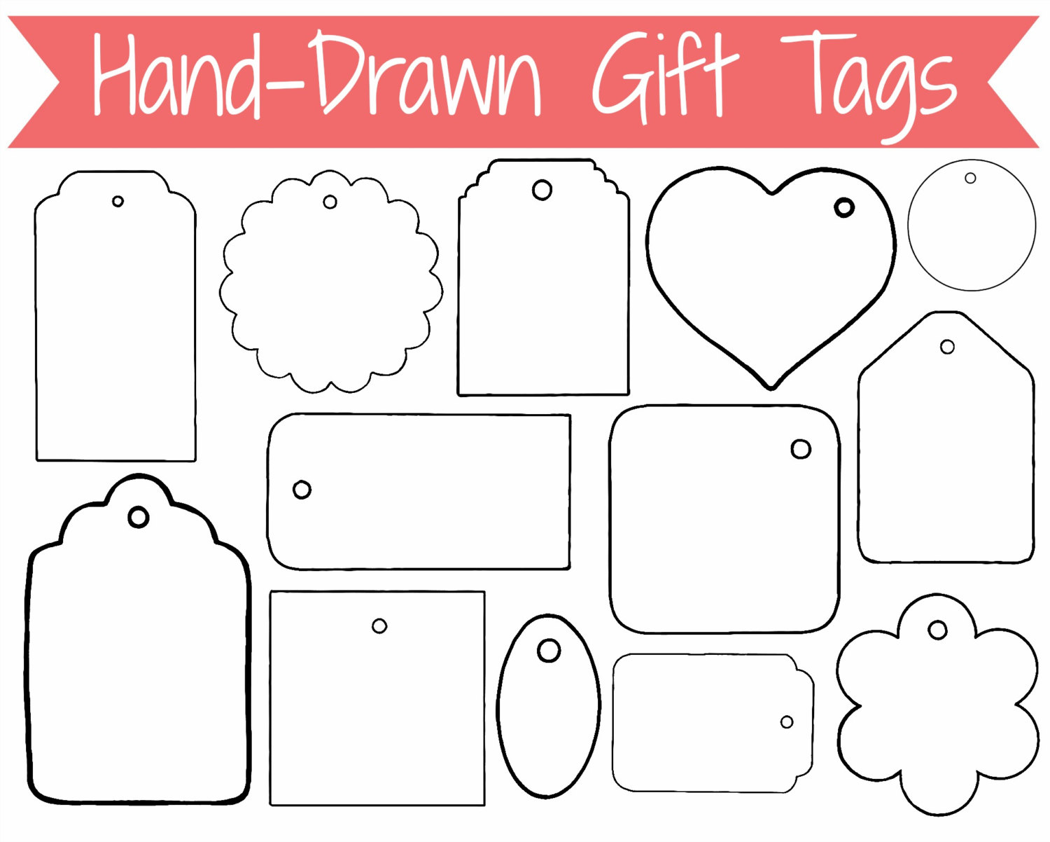 Christmas Gift Tag Clipart.