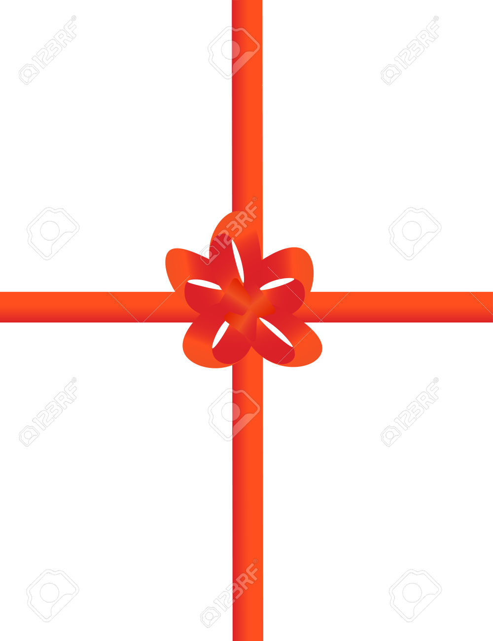 Red Tape With A Bow Packing Of A Celebratory Gift Royalty Free.