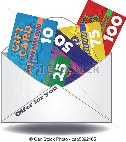 Gift Card Clipart, Gift Card Free Clipart.