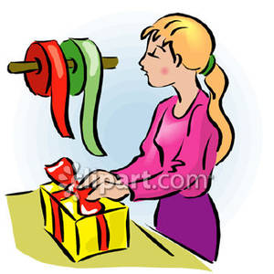 Gift wrapping clipart.