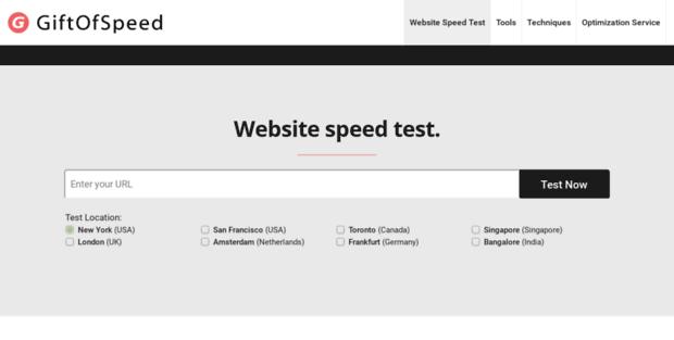 Giftof Speed. Website Speed Test & Performance Optimization Tools.