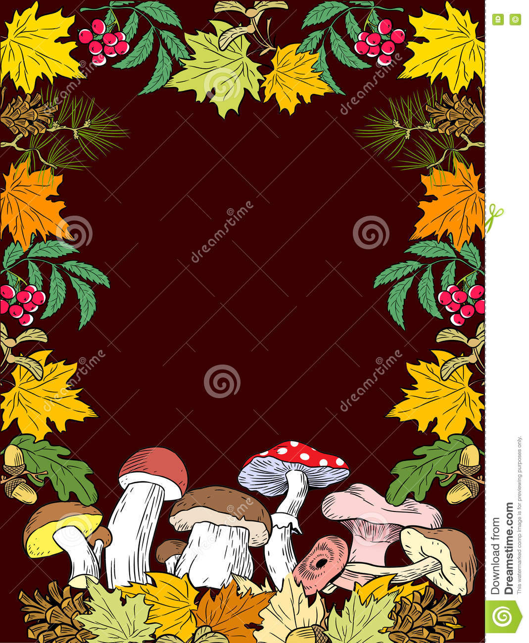Autumn Gifts Of Nature Stock Vector.