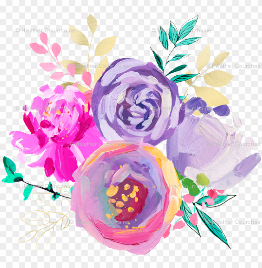 Download urple and gold floral bouquet 1 4\