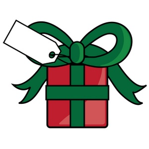 Free Christmas Present Clip Art Image.