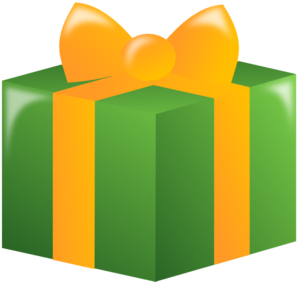 Free clip art wrapped gift.