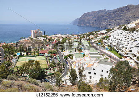 Stock Images of Los Gigantes. Tenerife island, Canaries k12152286.