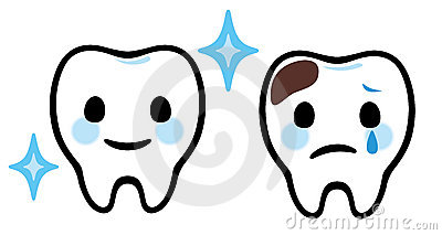 Cute Tooth With Cavity Clipart.