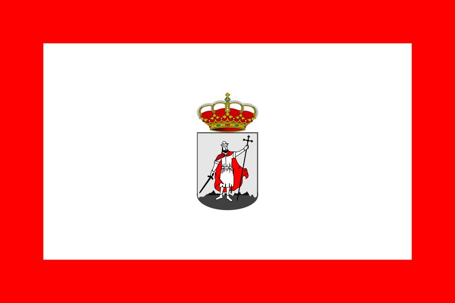 City Flag of Gijon Asturies Spain Clipart, vector clip art online.