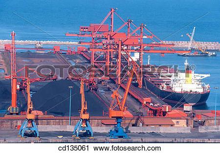 Stock Photography of Port of El Musel. Gijon. Asturias. Spain.