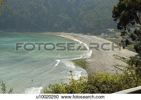 Stock Photography of Spain, Asturias, Gijon, Beach, Artejo, Artejo.