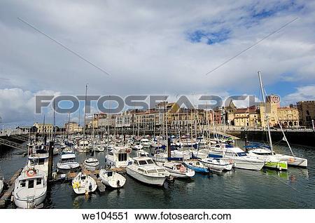 Stock Photography of Gijon harbour, Asturias, Spain we104551.
