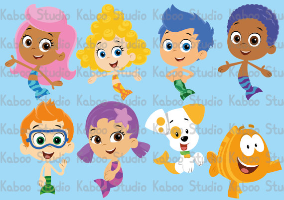 Bubble Guppies Clipart.