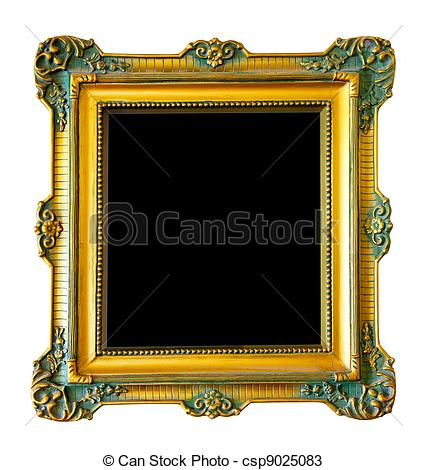 Stock Photos of Luxury gilded frame.