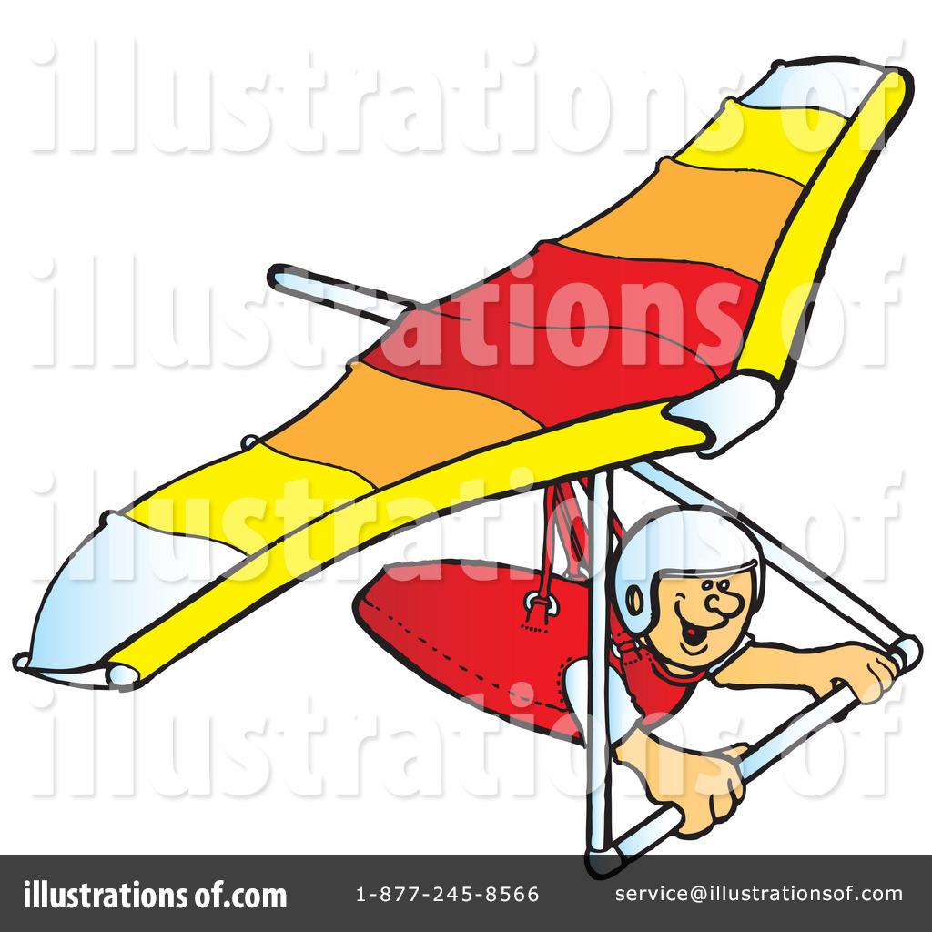 Hang Gliding Clipart #41910.