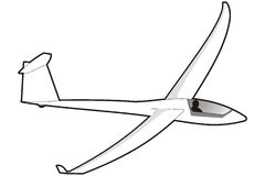 Glider Stock Illustrations.