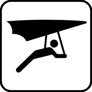 Hang Glider clip art Free Vector / 4Vector.