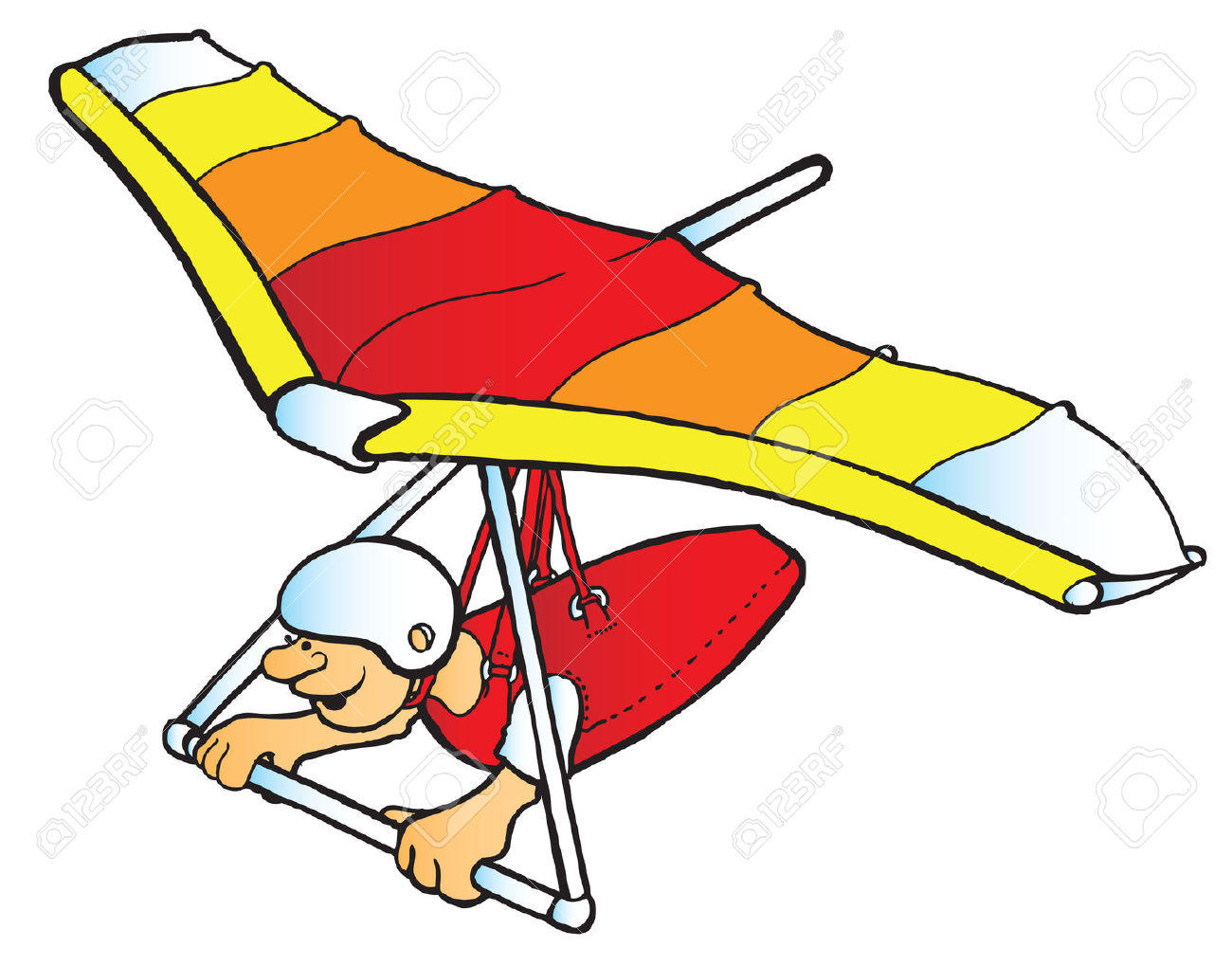 Hang gliding clipart.