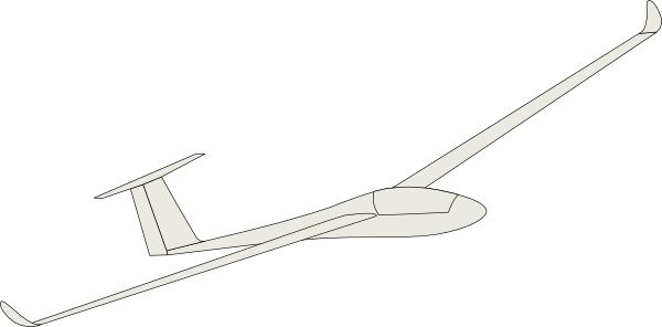 Glider clip art Free vector in Open office drawing svg ( .svg.