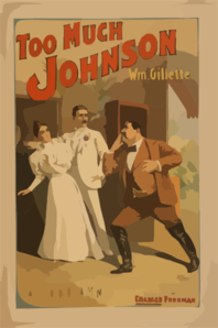 Too Much Johnson With Wm. Gillette. Clip Art at Clker.com.