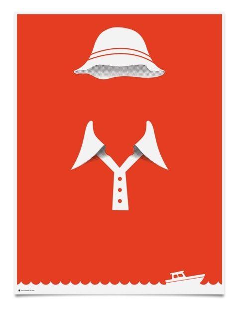 Gilligans Island minimalist art poster of Gilligan.