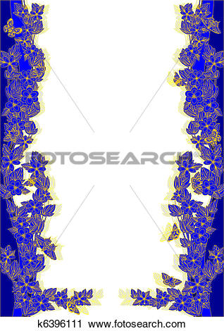 Clipart of Wildflowers in gilt k6396111.