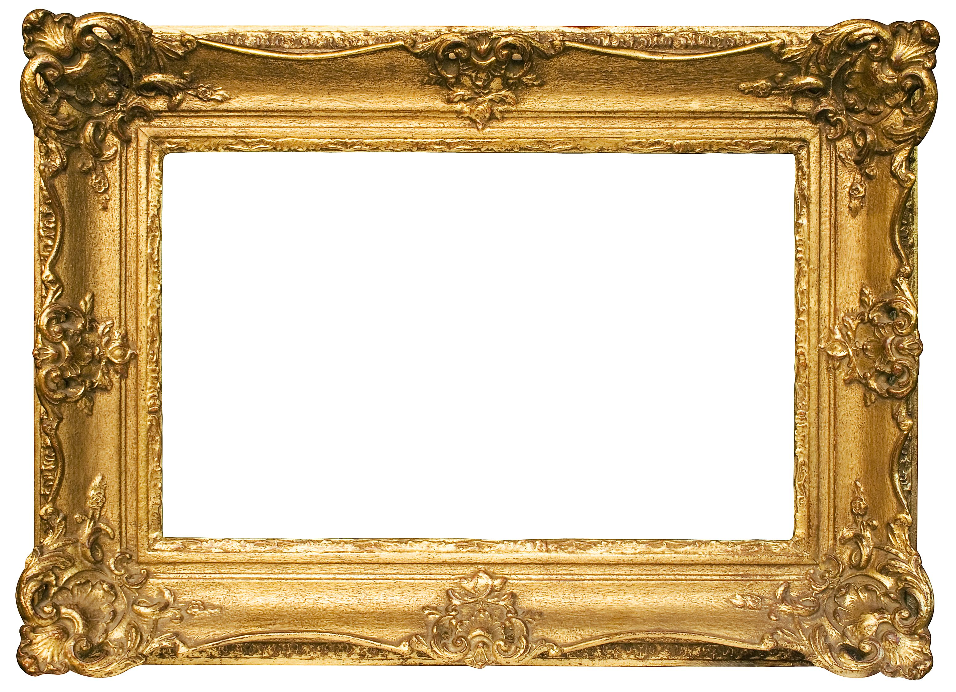 Gold Picture Frames: Old Fashioned Gold Frame, ornate gold frame.