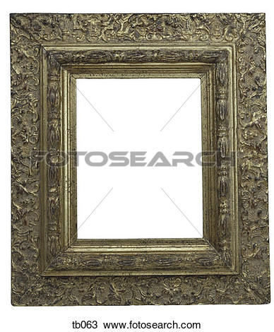 Stock Photo of Photograph of 2 ornate gilt picture or mirror.