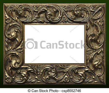 Stock Illustration of Ornate picture frame.