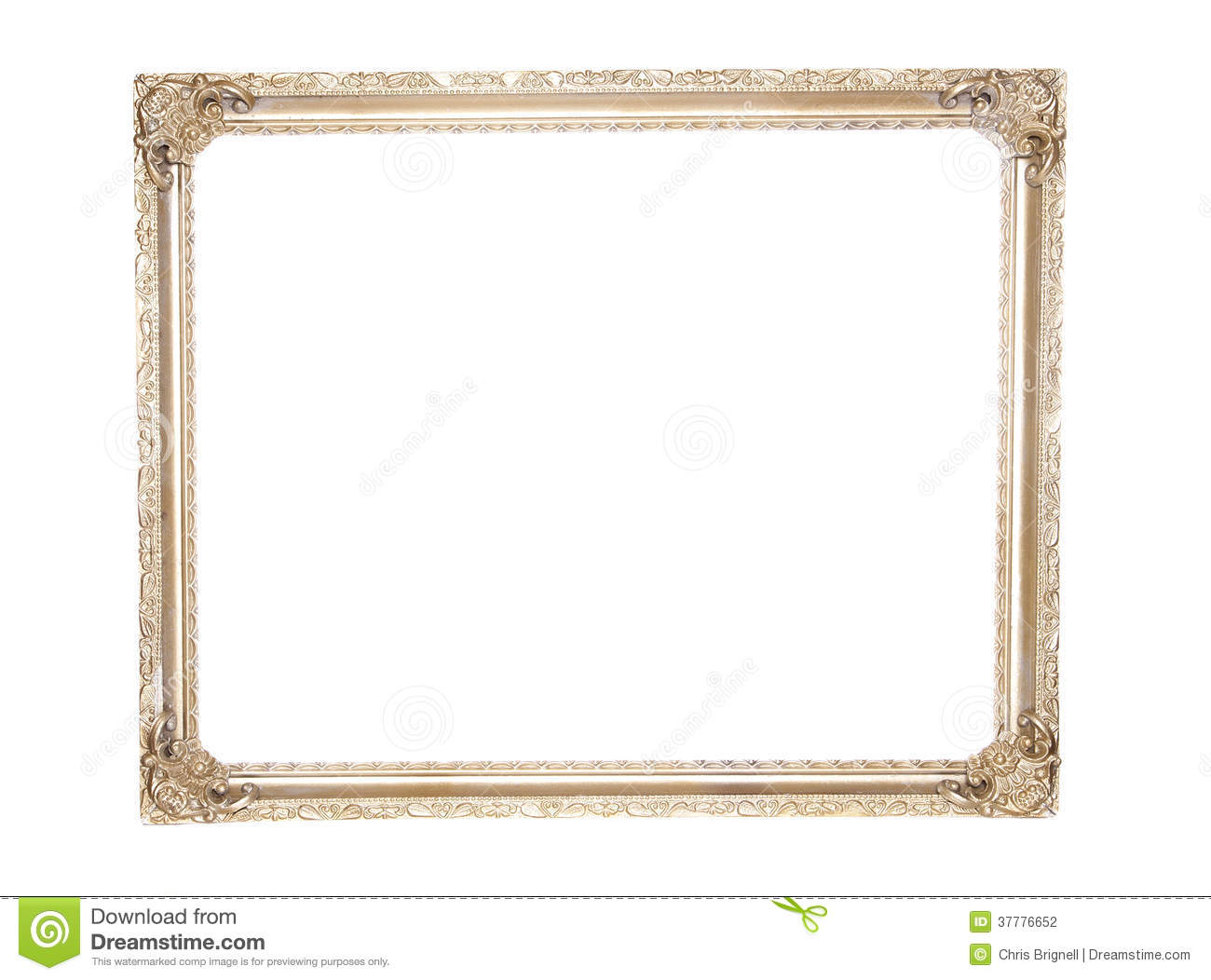 Ornate Antique Gold Gilt Frame Stock Photography.