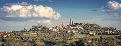 San Gimignano Tuscany Stock Illustrations.