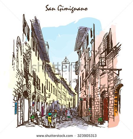 Gimignano Stock Vectors & Vector Clip Art.