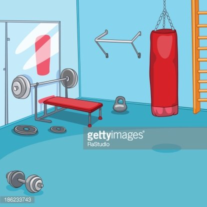 Gym Room Clipart Image.