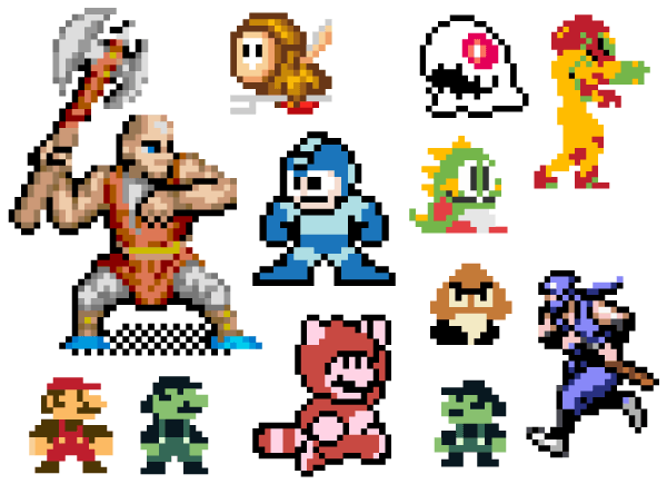 8bit Character Vector Pack Free.