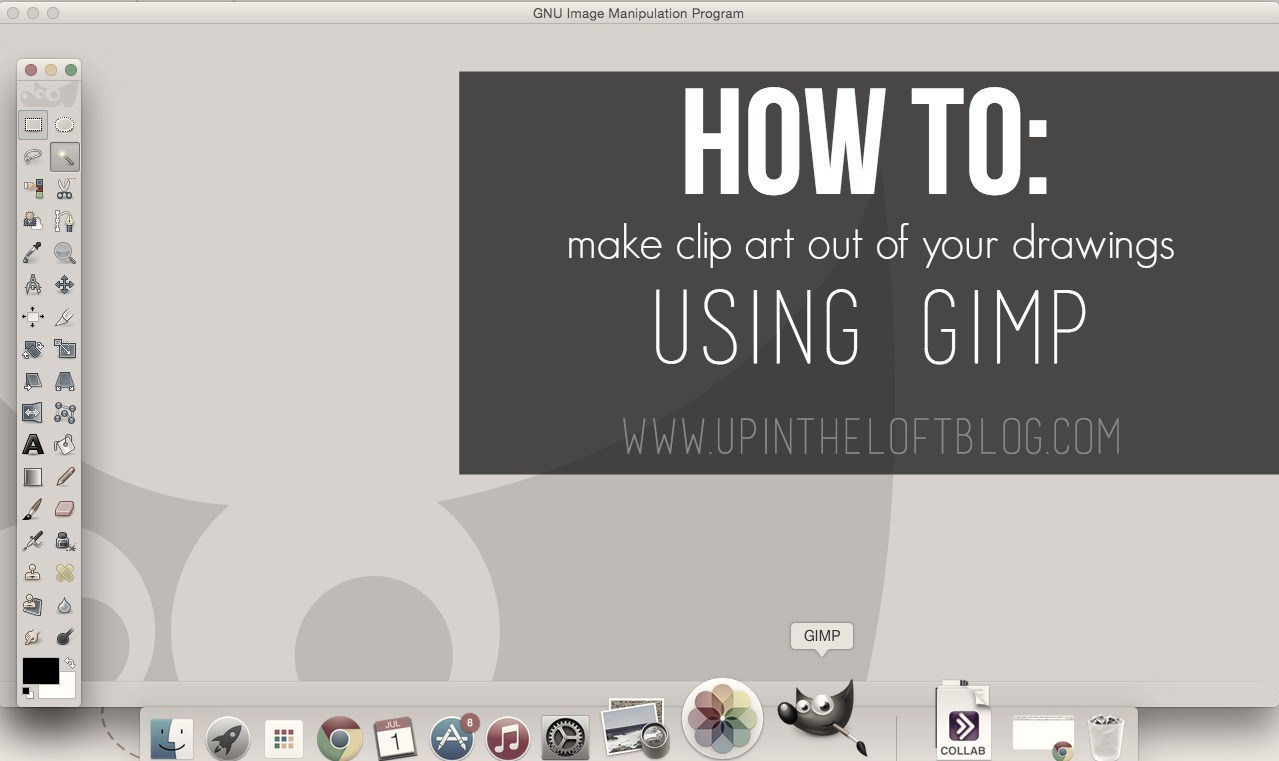 How to Make Clip Art with Gimp and Your Own Drawings.