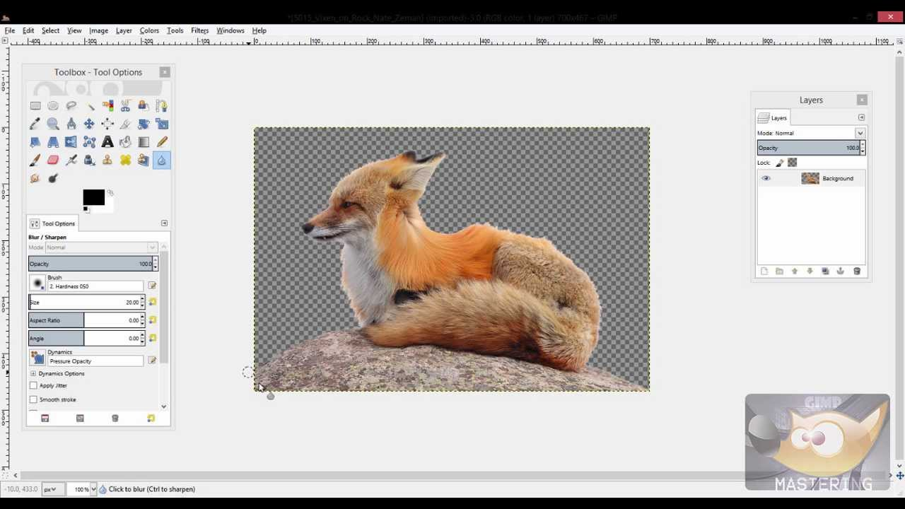 GIMP: How to Make a Background Transparent.