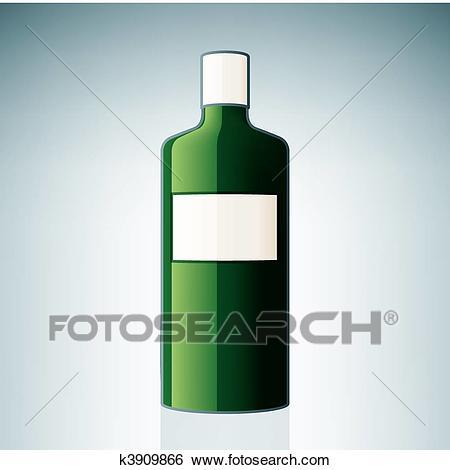 Gin Bottle Clip Art.