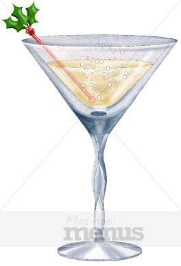 Gin Martini Clipart.