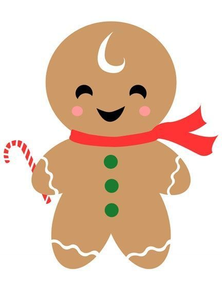 Gingerbread man gingerbread clip art image.