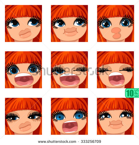 Vector Set Avatars Icons Smiley Clipart Stock Vector 333256700.