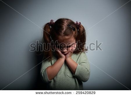 Depressed Girl Head Down Stock Images, Royalty.