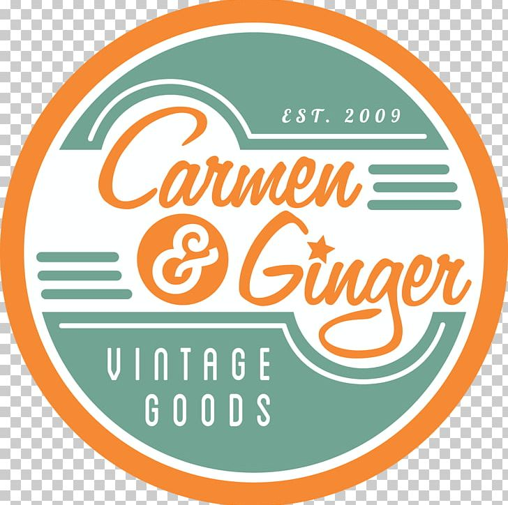 Carmen & Ginger Logo Vintage Clothing Estate Jewelry PNG.