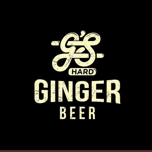 New Hard Ginger Beer seeking brand logo & label design that.