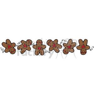 brown Gingerbread Man Border clipart . Royalty.