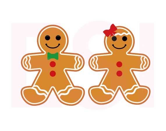 Gingerbread boy and Girl, Christmas svg files, SVG, DXF, EPS, for.