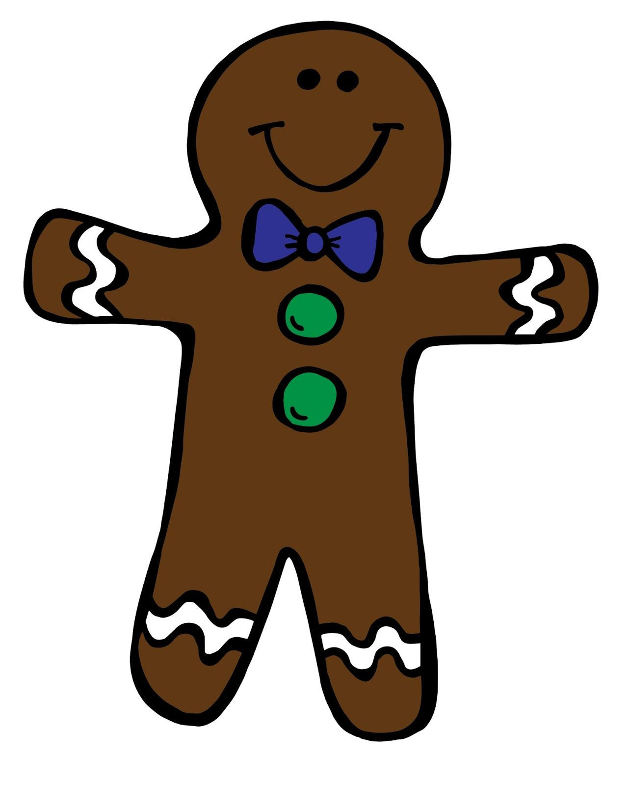 FREE Gingerbread Boy & Girl Clipart.