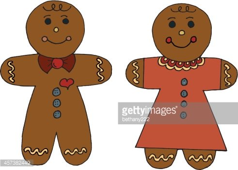 Gingerbread Boy and Girl premium clipart.